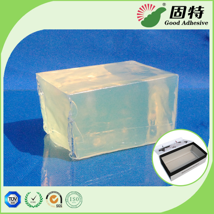 Gift Box PSA Pressure Sensitive Adhesive Packaging Strong Adhesive, Yellow and semi-transparent Block Hot melt adhesive