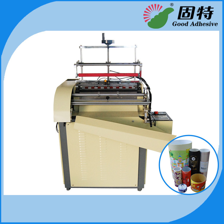 Semi-automatic Paper Can Paper Jar Labeling Hot Melt Adhesive Packaging Machine