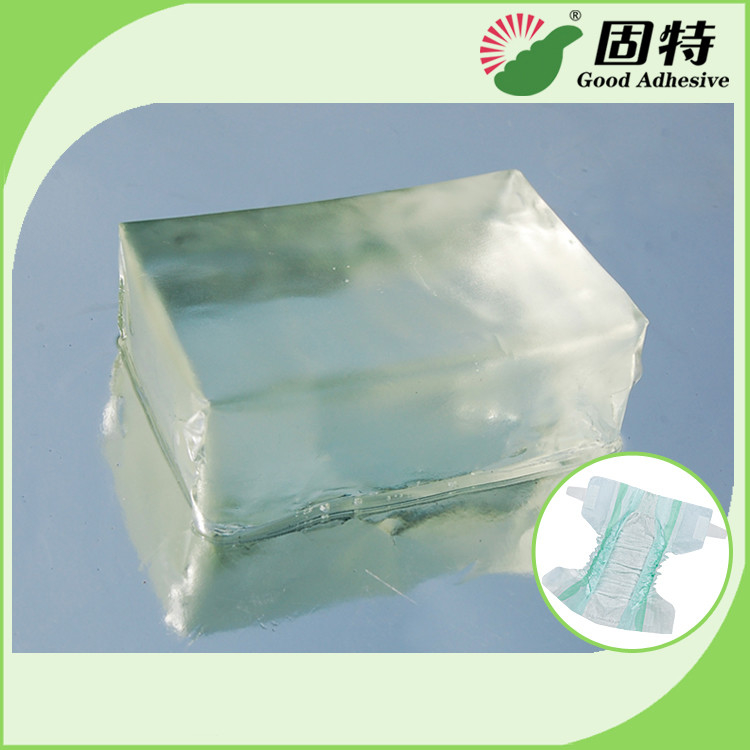 Light Transparent Block Synthetic polymer resin Baby Diaper Industrial Hot Melt Glue Synthetic Polymer Resin